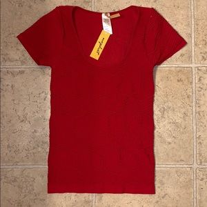 Red One-size-fits-all top